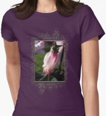 Cyclamen named Victoria Womens Fitted T-Shirt