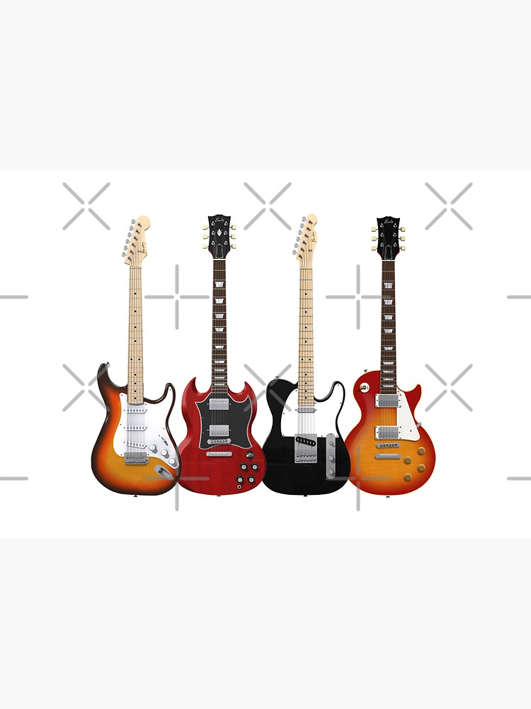 Four Electric Guitars by bradyarnold