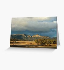 Sunset on the Sandstone Ramparts - Glen Alice Greeting Card