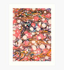 Psychedelic Retro Marbled Paper Pepe Psyche Art Print