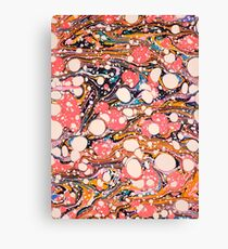Psychedelic Retro Marbled Paper Pepe Psyche Canvas Print