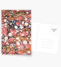 Psychedelic Retro Marbled Paper Pepe Psyche Postcards