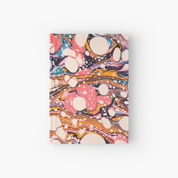 Psychedelic Retro Marbled Paper Pepe Psyche Hardcover Journal