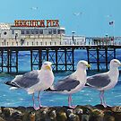 Seaside Seagulls by Paula Oakley