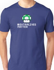 #Extra Lives Matter | Geek Gamer 1Up Mushroom with Slogan T-Shirt
