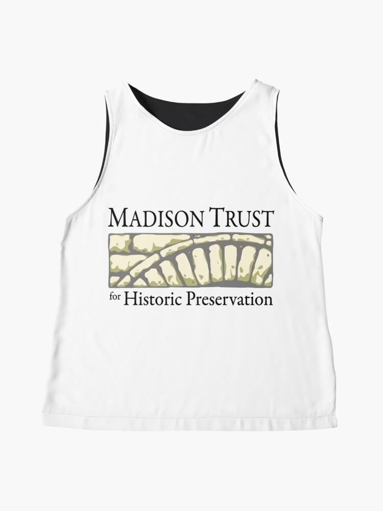 Alternate view of Madison Trust for Historic Preservation Logo Sleeveless Top