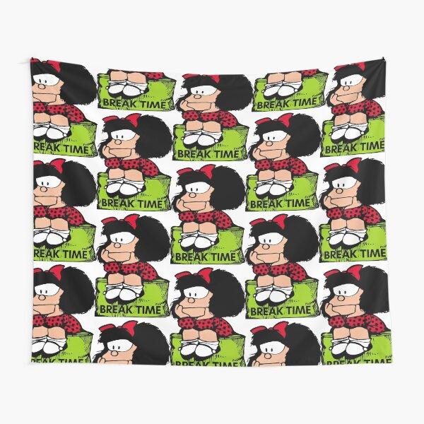 Mafalda break time sentada y en posicion de relax Tela decorativa
