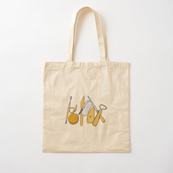 Clay Tools Sticker Cotton Tote Bag
