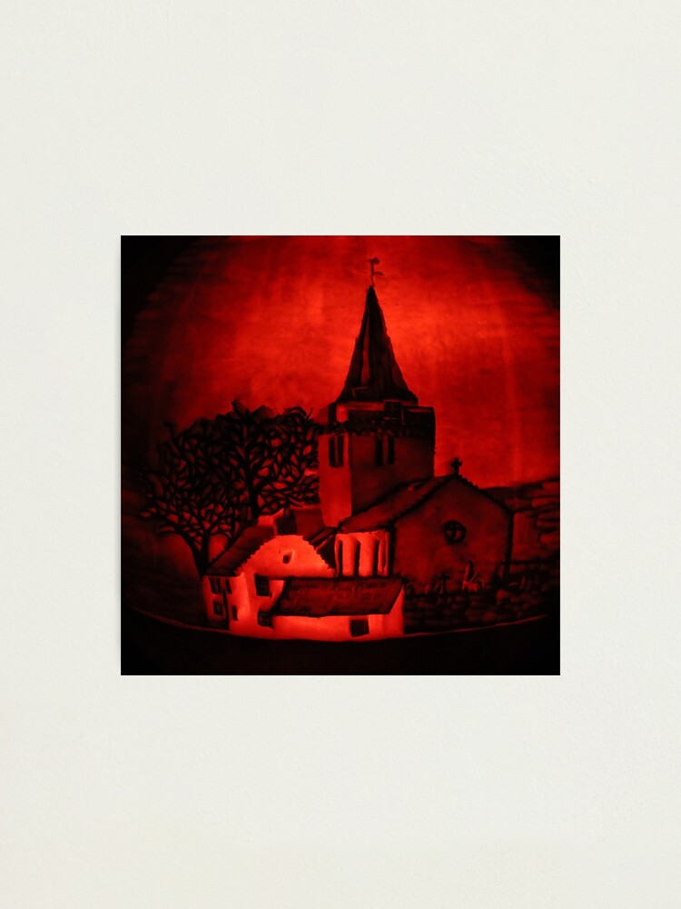 Alternate view of Dreel Halls, Anstruther (Carved onto a Pumpkin) Photographic Print