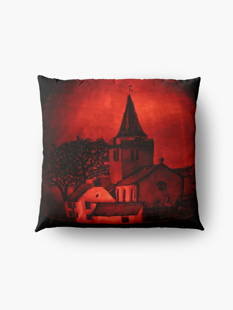 Alternate view of Dreel Halls, Anstruther (Carved onto a Pumpkin) Floor Pillow