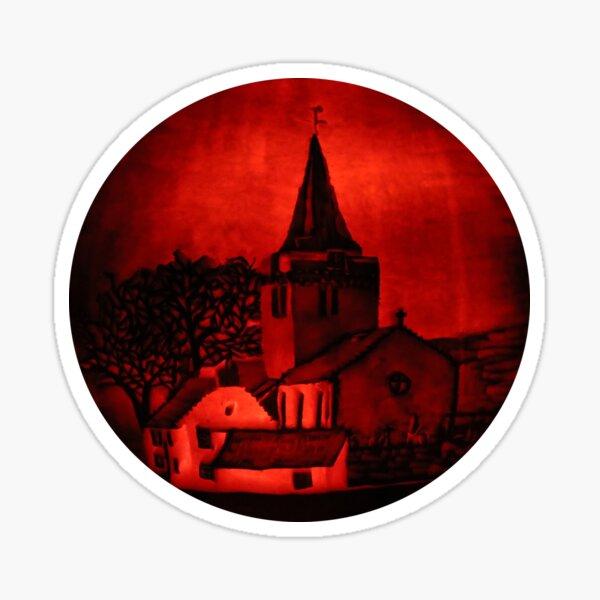 Dreel Halls, Anstruther (Carved onto a Pumpkin) Sticker