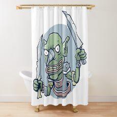 Drill Goblin Warrior Shower Curtain
