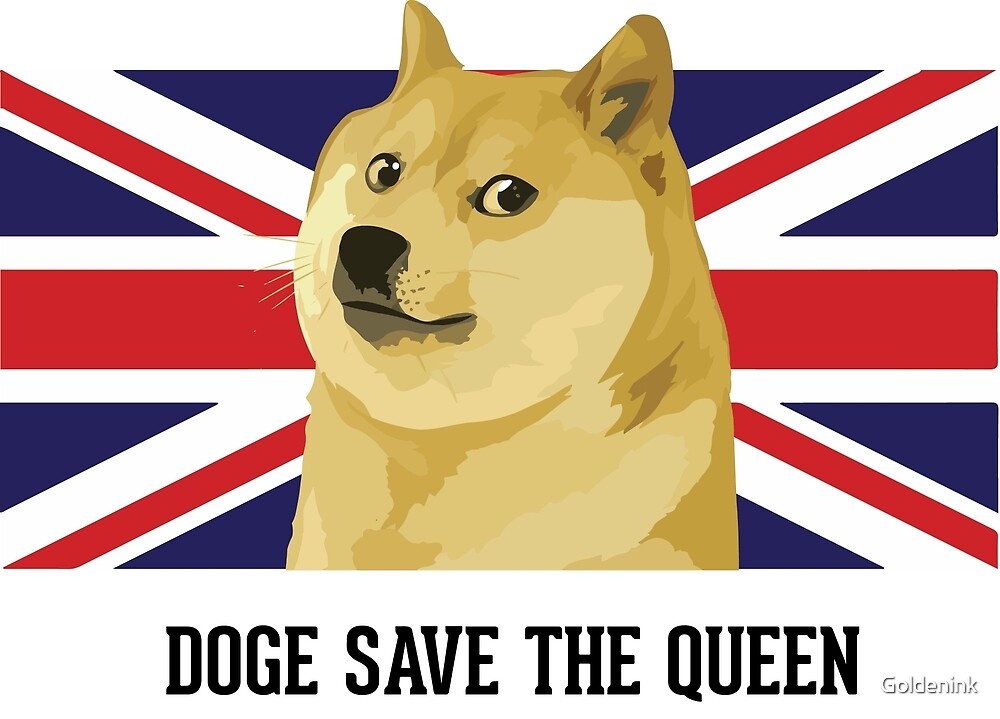 Doge save the queen by Goldenink