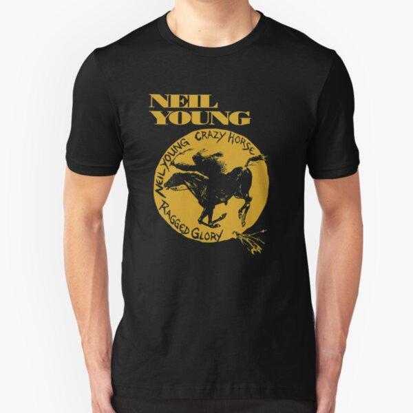 new crazy horse neil young tour 2020 demiduit Slim Fit T-Shirt