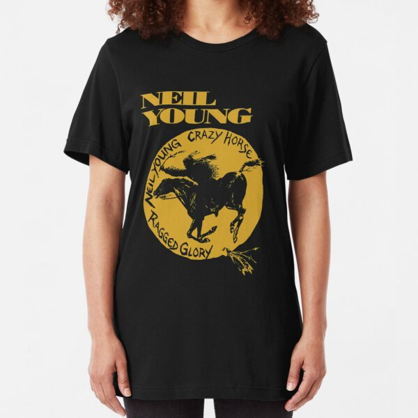 new crazy horse neil young tour 2020 demiduit Slim Fit T-Shirt