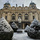 Theatre in Krakow under the snow by opheliaautumn