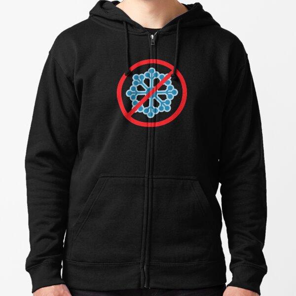 No Snow Flake Symbol Zipped Hoodie