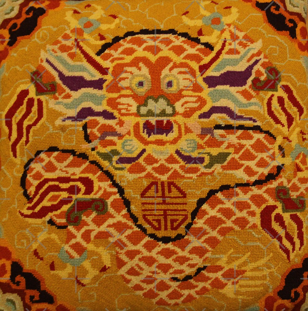 "Chinese Dragon Needlepoint by Christine ""Xine"" Segalas"