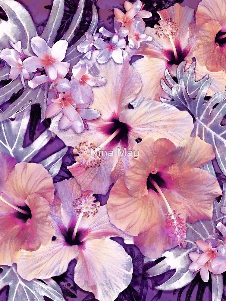 Violet Vintage Tropical by ninabmay