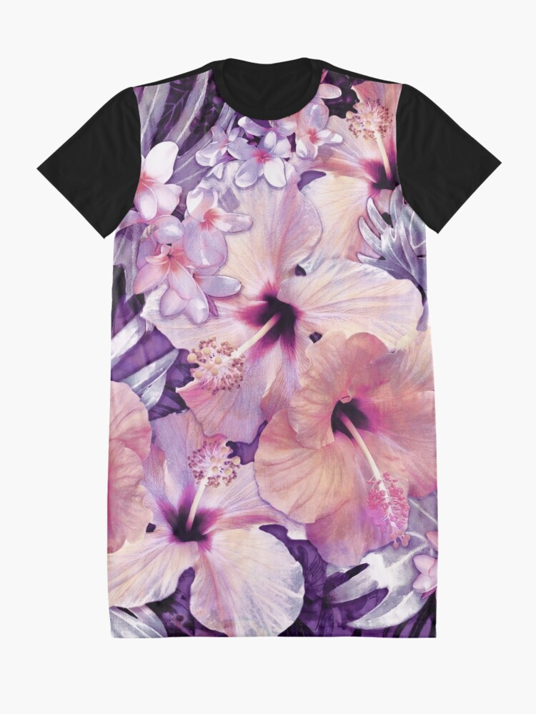 Alternate view of Violet Vintage Tropical Graphic T-Shirt Dress