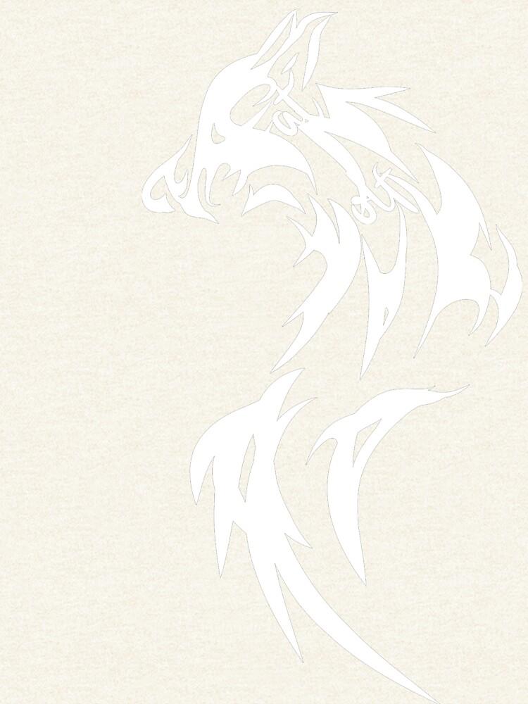 Fat Wolf - Wolf Tail White by danbadgeruk