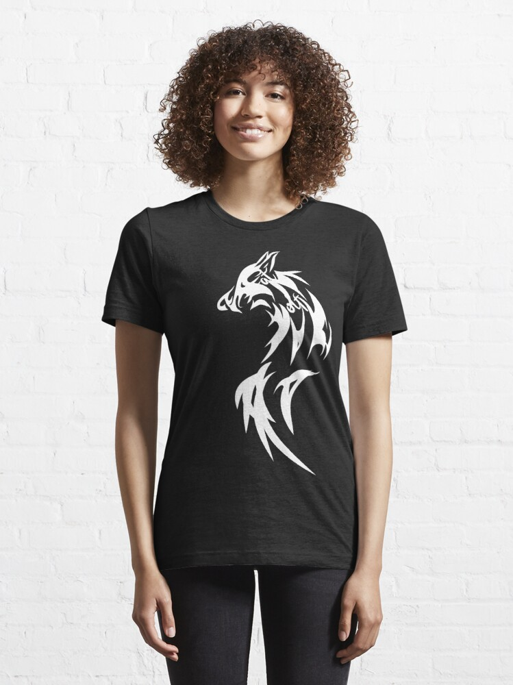 Alternate view of Fat Wolf - Wolf Tail White Essential T-Shirt