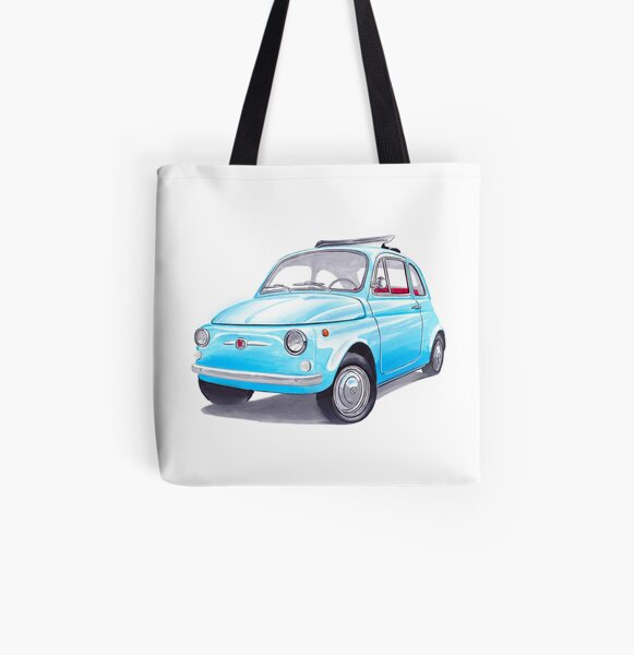 Fiat 500 All Over Print Tote Bag