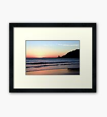 Dawn Silhouette  Framed Print