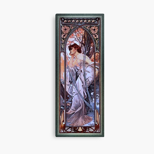 Evening Reverie by Alphonse Mucha - Old Masters Prints Canvas Print