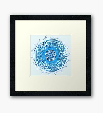 Blue Spirograph Framed Print