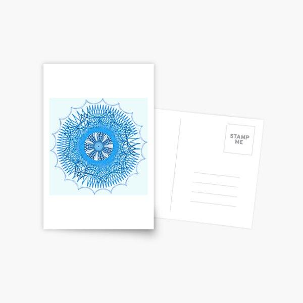 Blue Spirograph Postcard