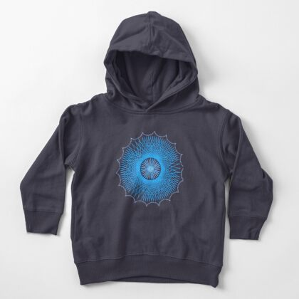 Blue Spirograph Toddler Pullover Hoodie