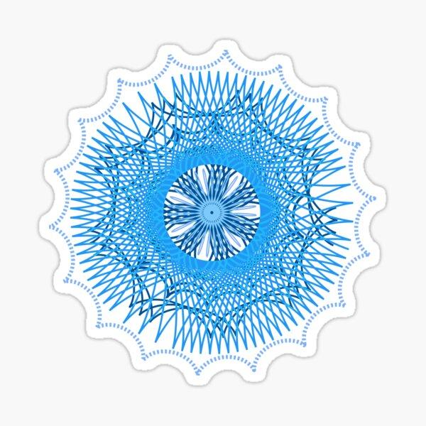 Blue Spirograph Sticker
