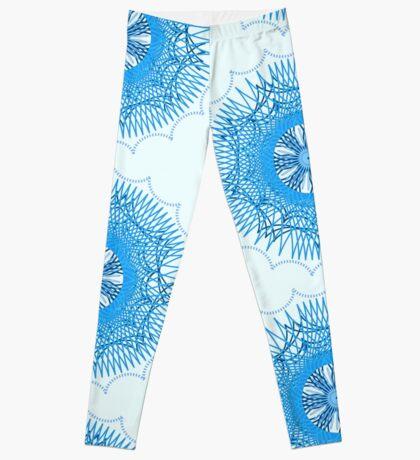 Blue Spirograph Leggings