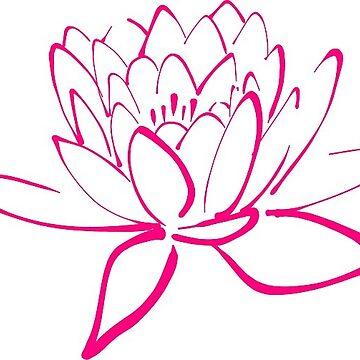 Pink Lotus Flower by JillianR95