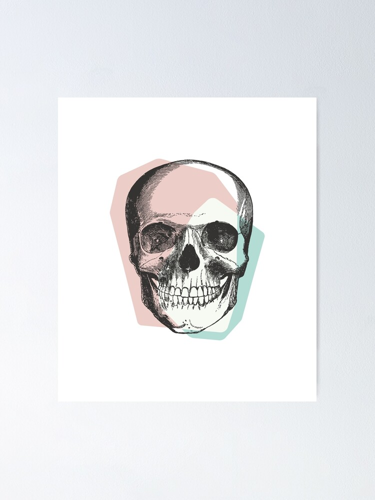 Alternate view of Skull Pastel Pink & Blue • Pastel Goth  Poster