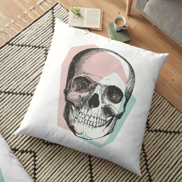 Skull Pastel Pink & Blue • Pastel Goth  Floor Pillow