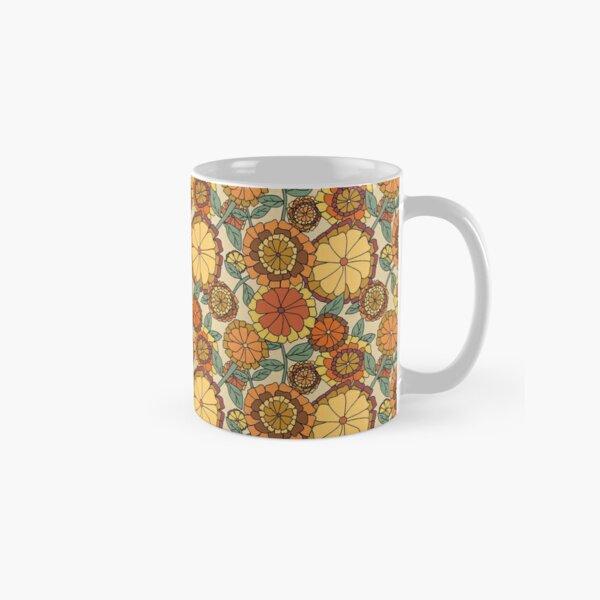 Groovy Marigold Floral Classic Mug