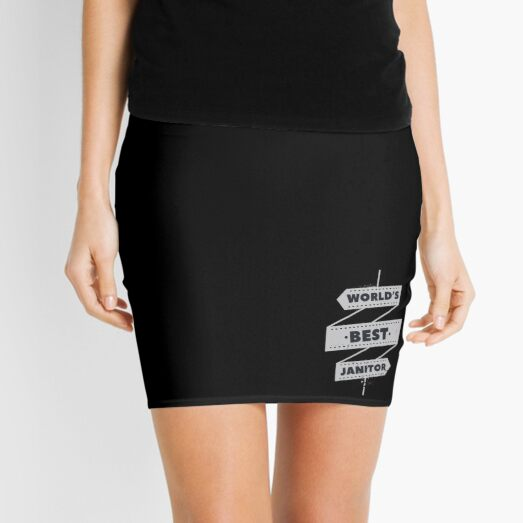 Janitor Shirt & Gift Idea Occupations Mini Skirt