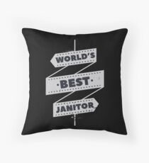 Janitor Shirt & Gift Idea Occupations Floor Pillow