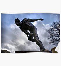 Statue Of Sir Freddie Trueman Poster