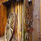 Old wagon wheel by Aurora Vaz