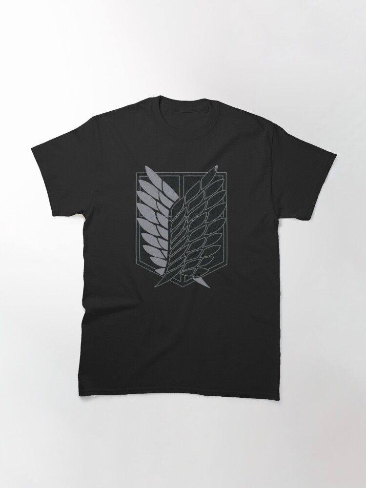 Alternate view of Exploration Battalion - SNK - B&W Classic T-Shirt