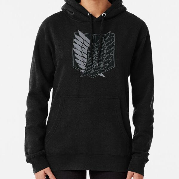 Exploration Battalion - SNK - B&W Pullover Hoodie