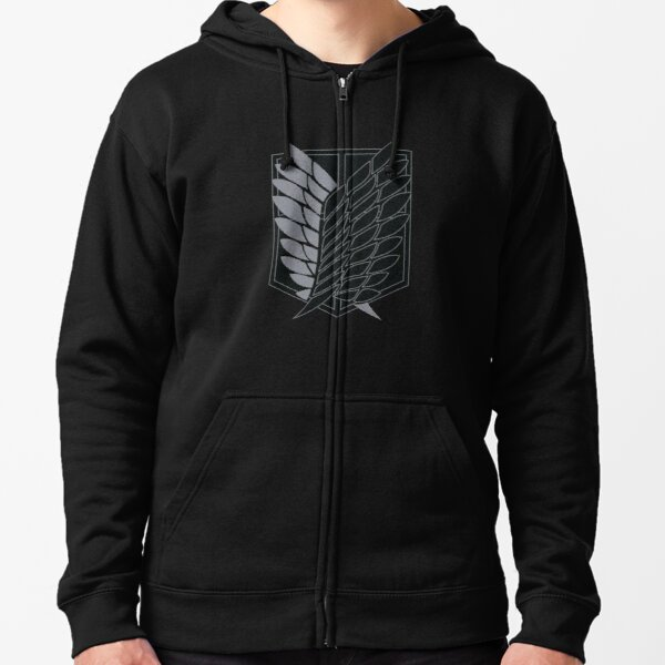 Exploration Battalion - SNK - B&W Zipped Hoodie