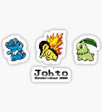Retro Johto Starters Sticker