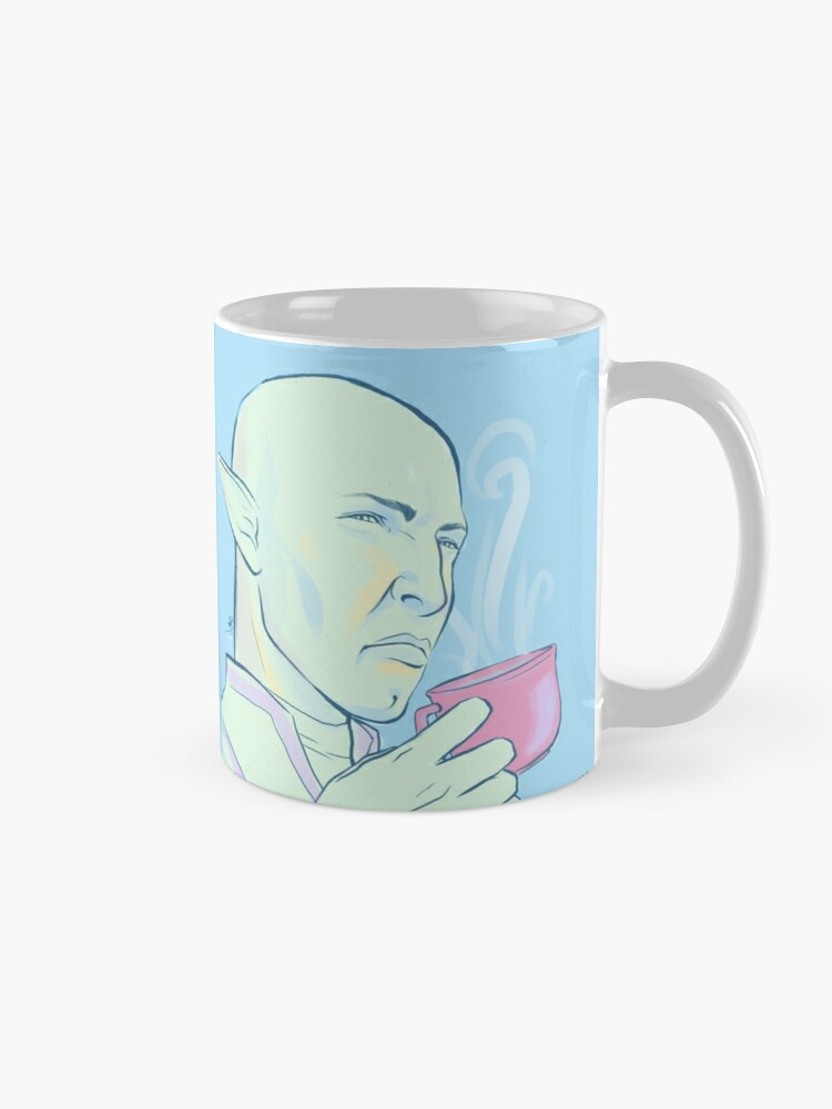 Alternate view of Solas greatly disapproves Mug
