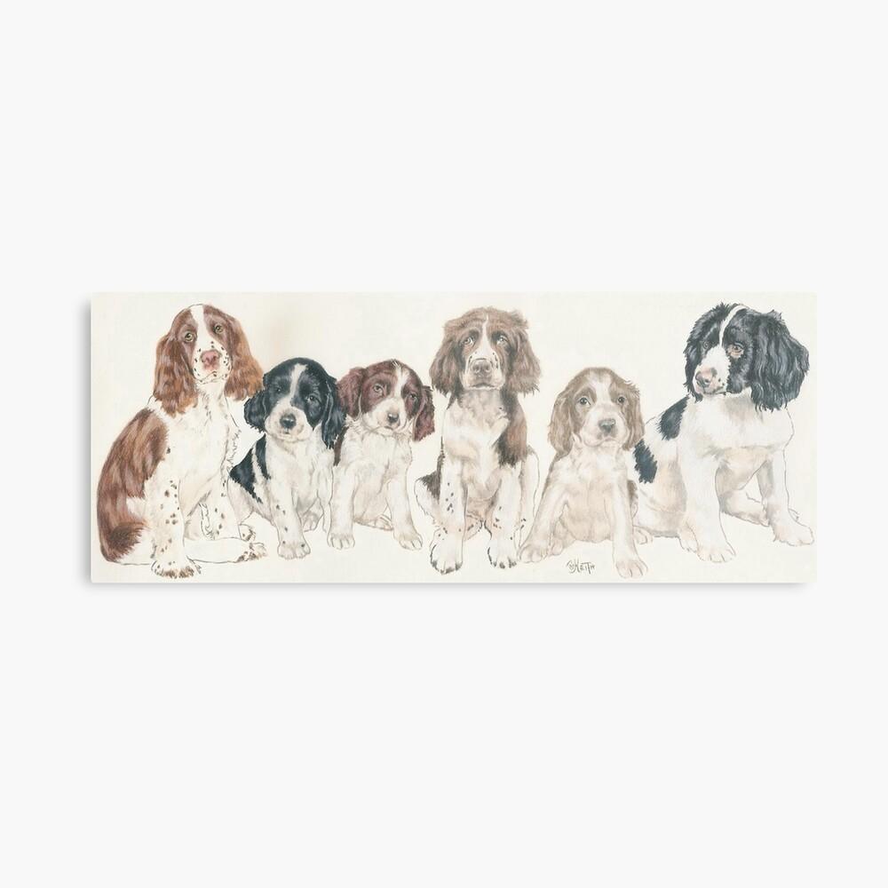 English Springer Spaniel Puppies Metal Print