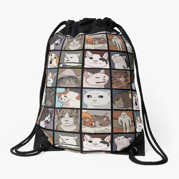 Meme Cats 2.0 Drawstring Bag