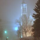 St. Dennis Church in the Blizzard of 2011 by MarjorieB